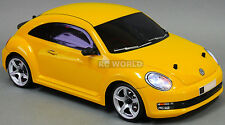 Custom RC 1/10 Drift  VW BEETLE  AWD Belt CAR RTR Yellow  w/ LED LIGHTS
