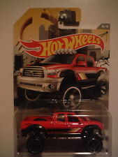 Red 2010 Toyota Tundra lifted Hot Wheels Walmart Exclusive 2016 Truck Series