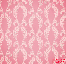 5x7FT Pink Damask Vinyl Studio Backdrop Photography Prop Photo Background FG37