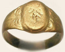 Medieval Roman Byzantine Engrave Faux Gem Ring AD999 Size 8