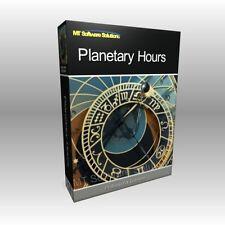 Astrología horas planetarias días Starsign Luna software programa de ordenador