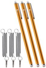 "Set of 3 XXL Stylus 7.3"" with Knit Fiber Tip for iPhone, iPad, Samsung and More"