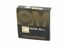 OLYMPUS Branded 49mm SKYLIGHT (1A) FILTER, Case and Retail Packaging.