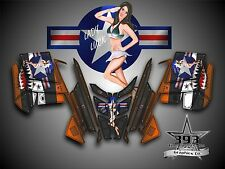 POLARIS PRO RMK - RUSH 2010-2015 Decal Wrap Graphics Aircraft Pinup Orange