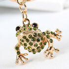Lovely Frog Cute Charm Pendant Rhinestone Crystal Key Ring Keychain Accessories
