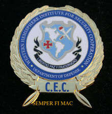 Western Hemisphere Institute Security Cooperatio WHINSEC CEC BADGE PIN US ARMY