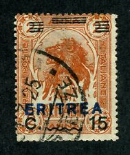 Eritrea, Scott #84, Italian Somaliland #13 w/Overprint, Used, 1924