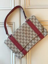 Beautiful Authentic GUCCI Bag With Red Leather Straps