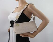 The Sak Basket Weave Small Clutch Shoulder Handbag Purse Wide Strap