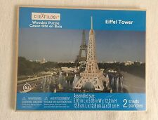 WOODEN PUZZLES CREATOLOGY EIFFEL TOWER NEW Sealed