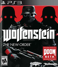 PLAYSTATION 3 WOLFENSTEIN THE NEW ORDER DOOM BETA BRAND NEW VIDEO GAME