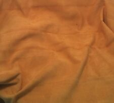 SUEDE MUSTARD GOLD cow hide Leather Piece #27