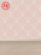 PINK DAMASK WALLPAPER FLOOR BACKDROP BACKGROUND VINYL PHOTO PROP 5X7FT 150x220CM