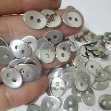 100pcs Clothing jewelry tool Current Stainless Steel 2-hole connector Button