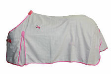 AXIOM POLYCOTTON PINK RIPSTOP UNLINED HORSE RUG 6'3