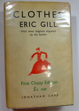 Clothes by Eric Gill Diagrams Engraved by Author 1931 Jonathan Cape Dust Jacket