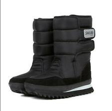 NEW WOMENS LADIES FUR LINED QUILTED RAIN MOON SKI WINTER SNOW BOOTS SHOES SIZE