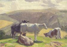 Harold Dearden (1888-1962) - Mid 20th Century Oil, Cattle in a Landscape
