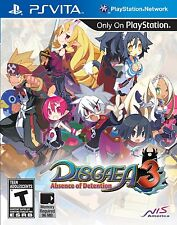 Disgaea 3: Absence of Detention (Sony PlayStation Vita PSV Region Free RPG) NEW