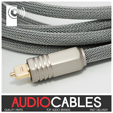 1.5m PRO MASTER TOSLink CABLE (Digital Fibre Optic Audio Cable) TcW2 THATS AUDIO
