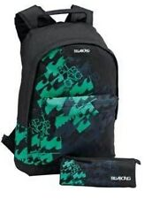 BILLABONG ZEBRA BLACK AND GREEN BACKPACK,RUCKSACK,SCHOOL BAG & PENCIL CASE.