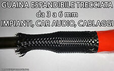 GUAINA ESPANDIBILE TRECCIATA 10 metri Ø da 3 a 6 mm PER CAVI CAR AUDIO TUNING