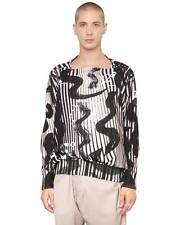 Authentic Vivienne Westwood MAN® Psychedelic Squiggle Print Boxy Sweatshirt XXL