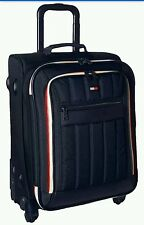 """Tommy Hilfiger Luggage Classic Sport 21"""" Expandable Spinner Carry On Navy quilt"""