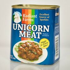 Canned Unicorn Meat Joke Gag Gift New Can Radiant Farms Unicorn Magic