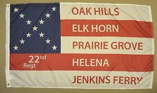 22nd 35th Arkansas AR 1964 Indoor Outdoor Historical Dyed Nylon Flag 3' X 5'