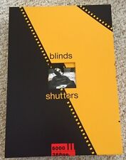 BLINDS AND SHUTTERS-GENESIS PUBLICATIONS-SIGNED BY ERIC CLAPTON-KEITH RICHARDS