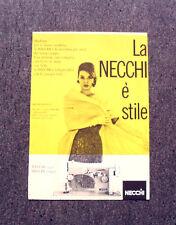 M164- Advertising Pubblicità -1960- NECCHI MACCHINA DA CUCIRE E' STILE