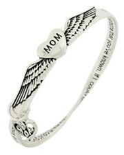 Mom Mother Family Love Heart Angel Wings Pretty Mobius (Twisted) Bracelet #58-E