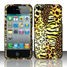 For Apple iPhone 4 4S Rubberized HARD Protector Case Phone Cover Golden Safari