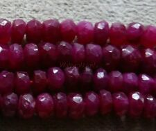 Ruby Natural Gem Stone Beads Faceted Heishi Rondelles 3 to 3.5 MM (10)