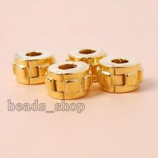 5x Hot Selling Gold Plated Alloy Stopper Beads European Jewelry Findings Lots BS