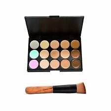 15 Farben Tarnung Concealer Make Up Creme Palette mit Pinsel GY