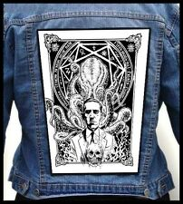 H.P. LOVECRAFT --- Giant Backpatch Back Patch / Necronomicon