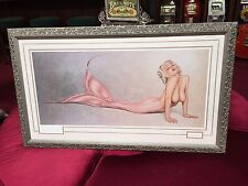 "Framed 44"" x 26""  Robert Bane ""Nude Mermaid"" Artwork Signed Lithograph #405/500"
