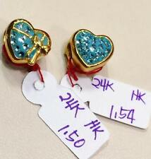 SOLID 24k HK Gold Charm -  1.50 g ( photo on the left ) - 1 pc only