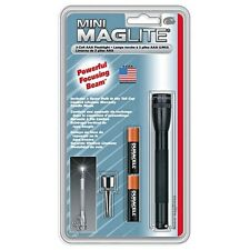 Maglite M3A016 AAA 2 Cell Battery Mini Flashlight, Black