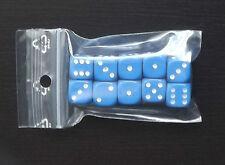 LOT 10 Dés 6 Faces 1cm Bleus Idéal comme Marqueur +/- Magic MTG WoW DICE
