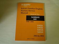Subaru Sambar Service Manual KS3 KS4 KV3 KV4