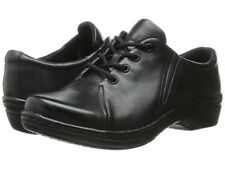 Women's 10 Klogs Illusion Black Leather Illusion Clog Lace Up Oxford Shoes 10M