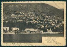 Como Moltrasio Lago di Como PIEGHINA Bellini FG cartolina VK2972