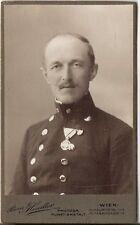 CDV photo KuK Soldat mit Orden - Wien um 1910