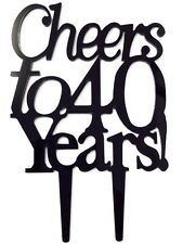Cheers to 40 Years Birthday 40th Anniversary Cake Topper Party Decoration Sign