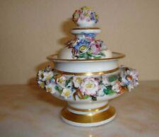 Pot couvert porcelaine paris Jacob Petit signé  XIXè siècle