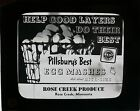 MAGIC LANTERN GLASS ADVERTISING SLIDES 1930'S MOVIE THEATRE SCREEN IMAGE