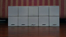5 x Genuine Bose Jewel Cube Speakers Genuine  White Excellent condition